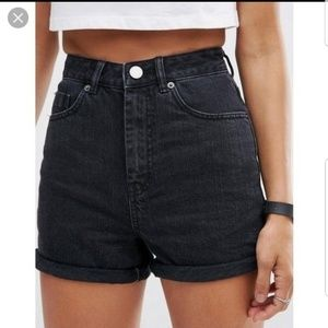 WRANGLER VINTAGE HIGH WAIST MOM JEAN SHORTS CUFF